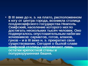 В III веке до н. э. на плато, расположенном к югу от центра города, возникла