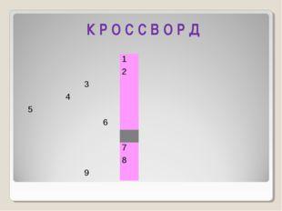 К Р О С С В О Р Д 1 2 3 4 5 6  7