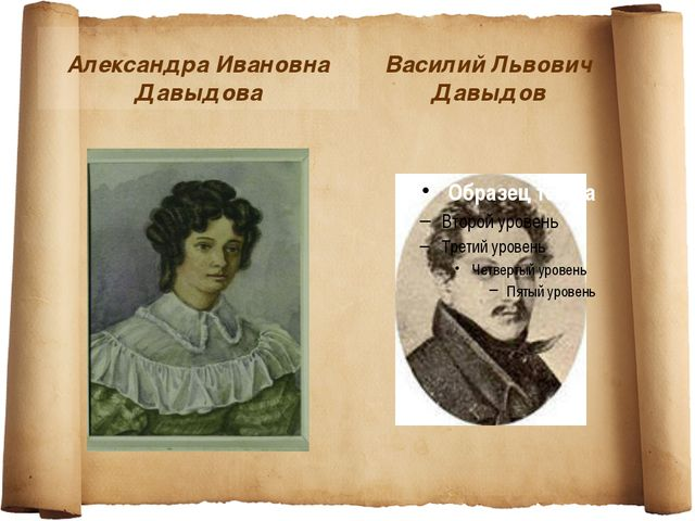 Александра Ивановна Давыдова Василий Львович Давыдов