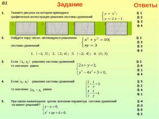 В1Задание Ответы 1.Укажите рисунок на котором приведена графическая иллюст