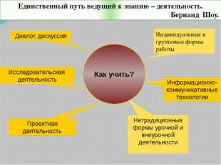 Информационно-коммуникативные технологии Как учить? Нетрадиционные формы уроч