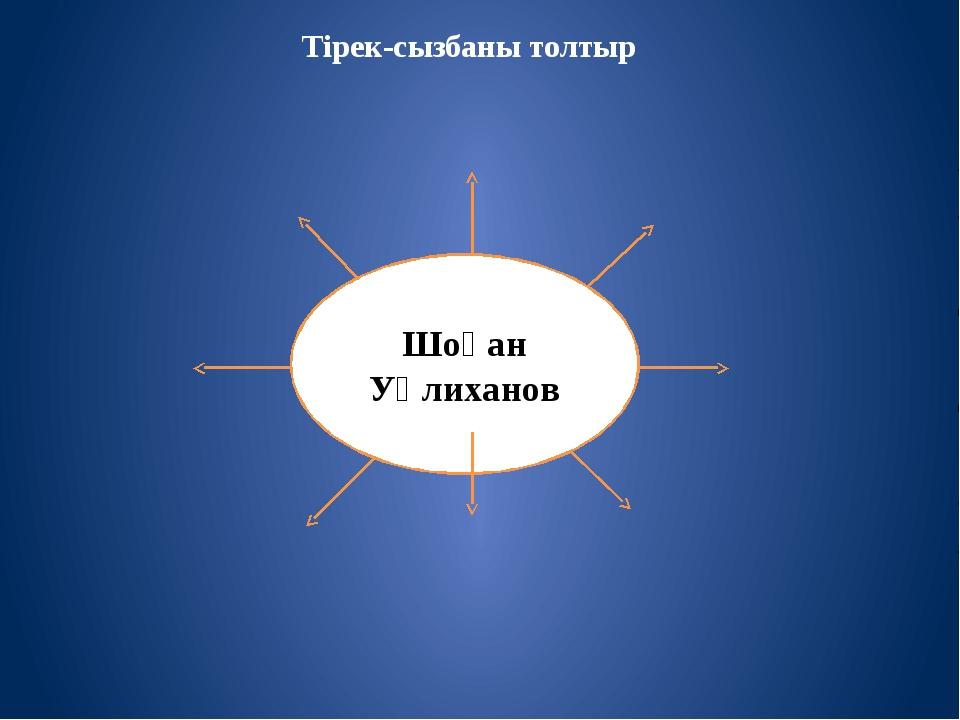 Тірек-сызбаны толтыр Шоқан Уәлиханов