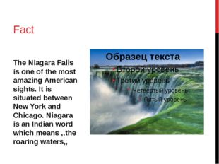 The Niagara Falls is one of the most amazing American sights. It is situated