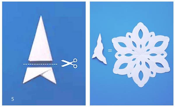 Как сделать снежинку из бумаги фото легкие