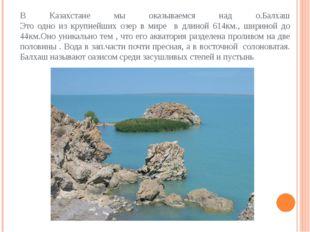 В Казахстане мы оказываемся над о.Балхаш Это одно из крупнейших озер в мире в