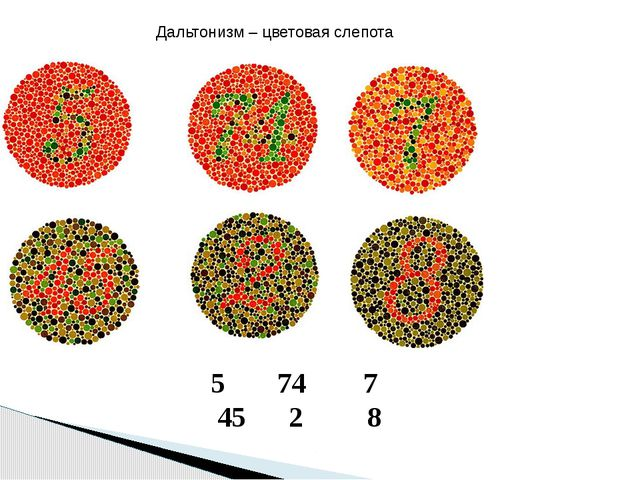74 7 45 2 8 Дальтонизм – цветовая слепота