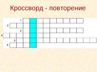 6 1 2 3 4 5 Кроссворд - повторение
