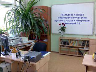 Наглядное пособие подготовлено учителем русского языка и литературы Никоновой