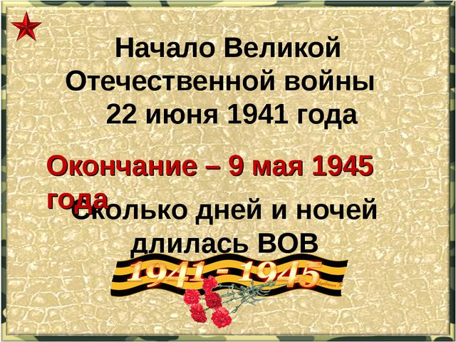 Начало Великой Отечественной войны 22 июня 1941 года Сколько дней и ночей дли...