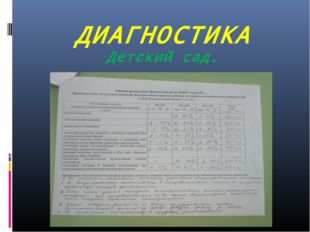 ДИАГНОСТИКА Детский сад.