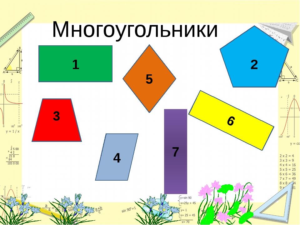 1 3333 4 2 5 Многоугольники 6 7