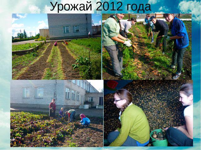 Урожай 2012 года