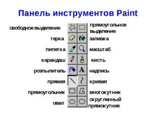 Панель инструментов Paint