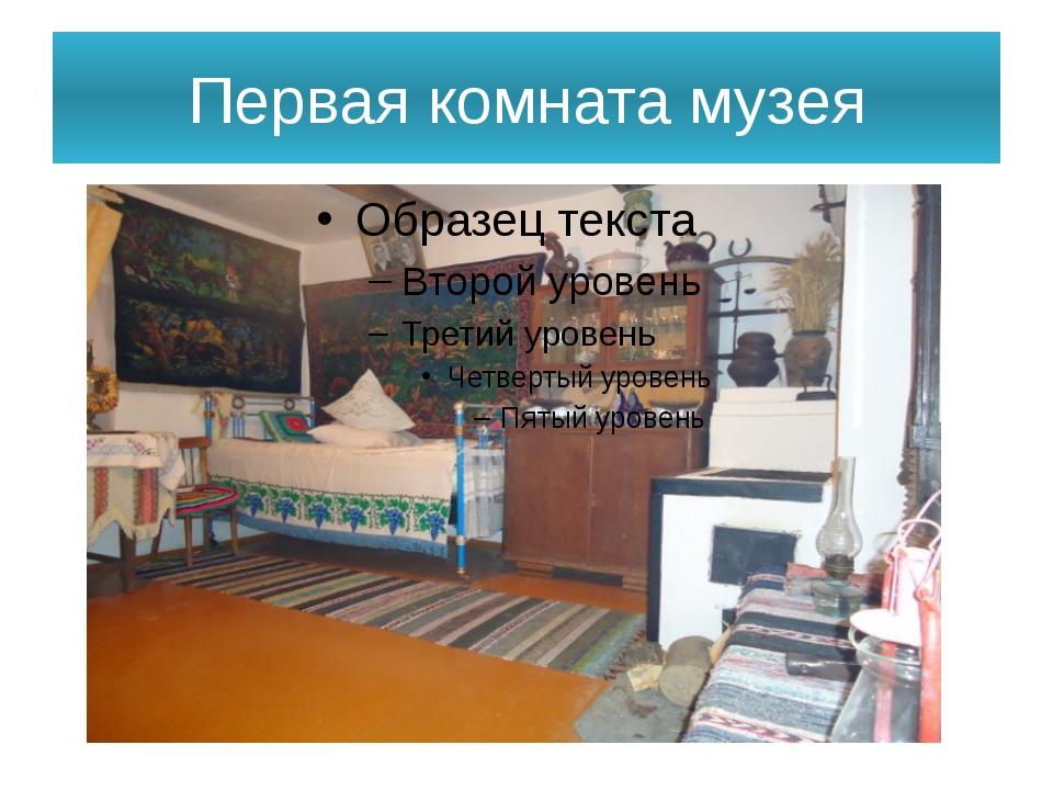Первая комната музея