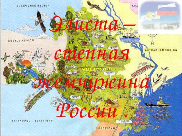 Элиста – степная жемчужина России .