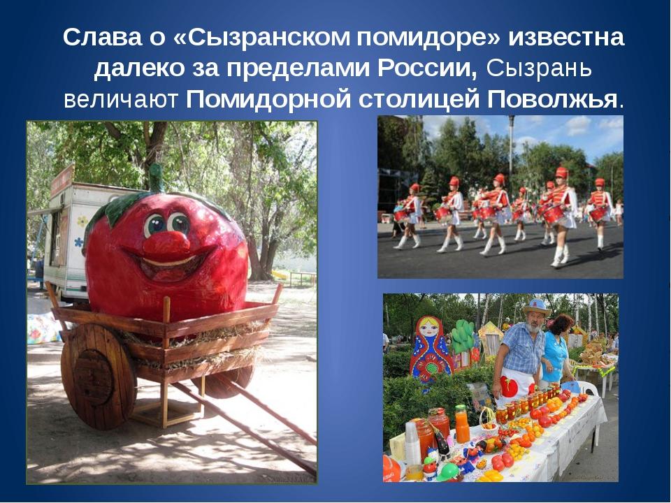 Слава о «Сызранском помидоре» известна далеко за пределами России, Сызрань ве...
