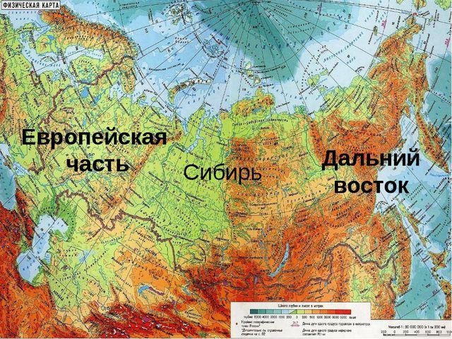 Европейская часть Сибирь Дальний восток