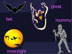 moonlight ghost bat mummy