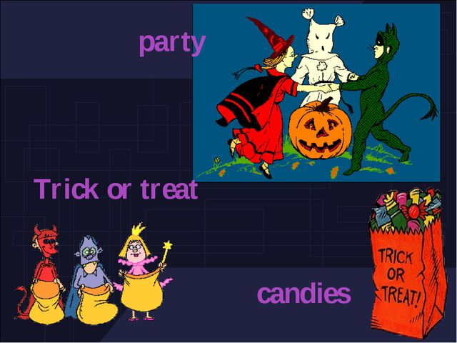 party Trick or treat candies