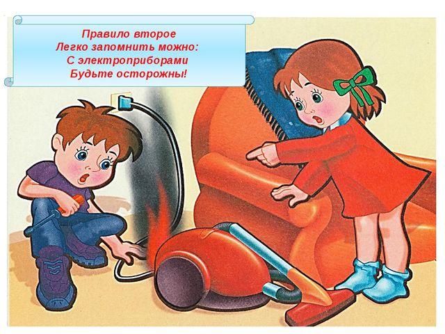 Правило второе Легко запомнить можно: С электроприборами Будьте осторожны!