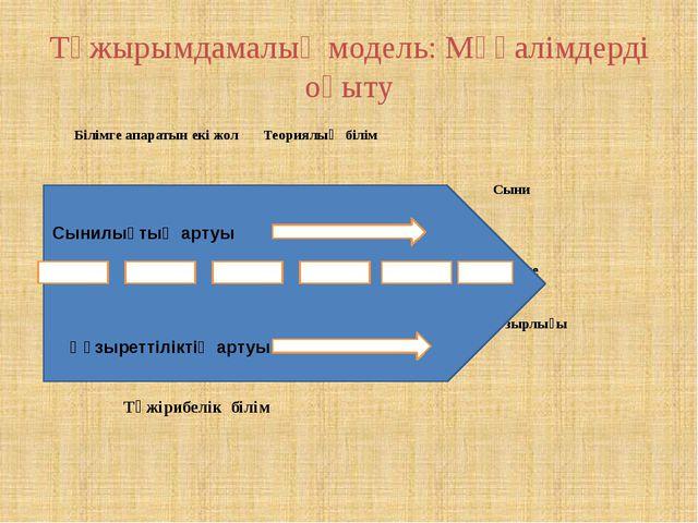 Тұжырымдамалық модель: Мұғалімдерді оқыту Білімге апаратын екі жол Теориялық...