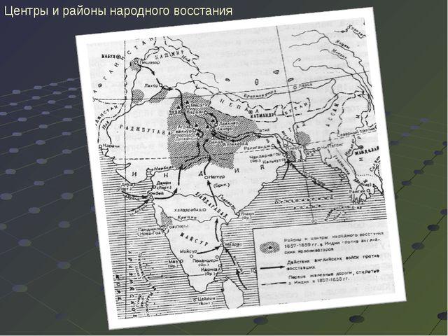 Центры и районы народного восстания