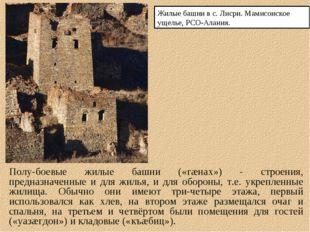 Полу-боевые жилые башни («гæнах») - строения, предназначенные и для жилья, и
