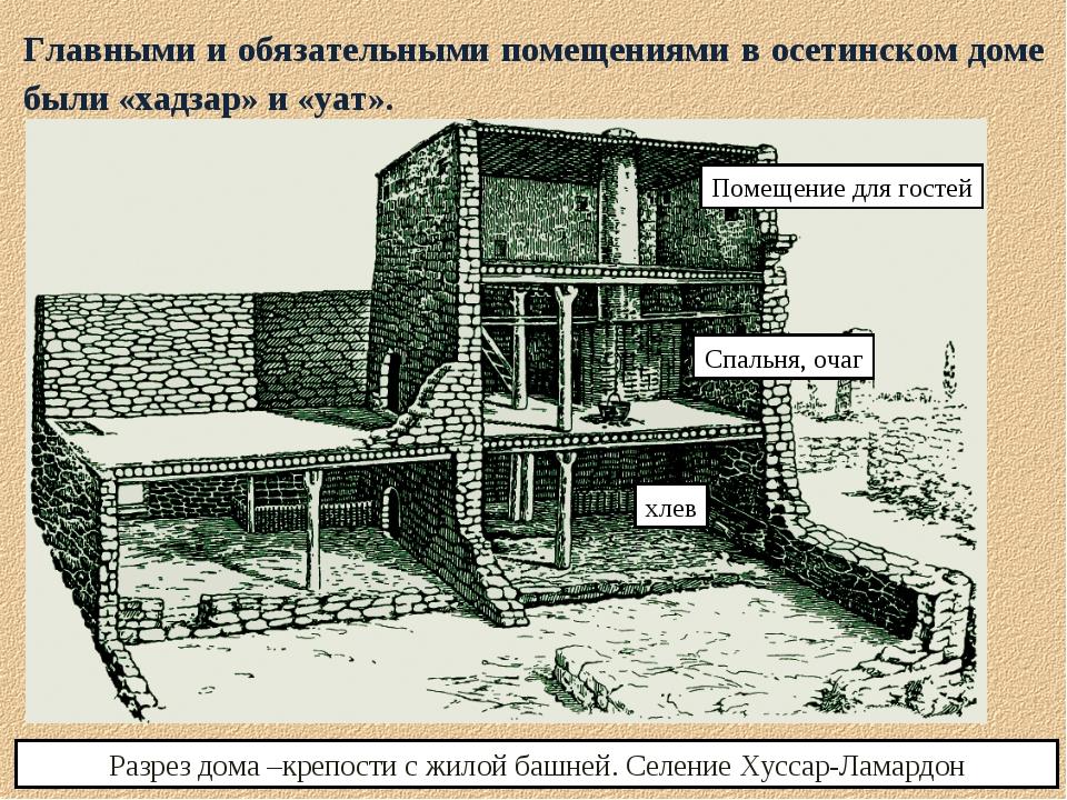 Главными и обязательными помещениями в осетинском доме были «хадзар» и «уат»....