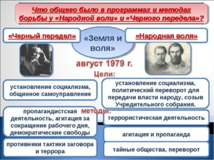 Раскол «Земли и воли» «Земля и воля» пропагандистская деятельность, агитация