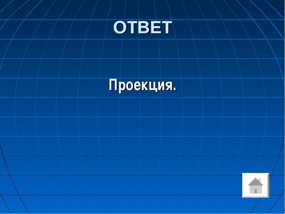 ОТВЕТ Проекция.