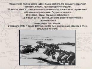Фашистская группа армий «Дон» была разбита. Но вермахт продолжал требовать бо