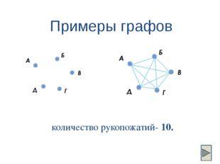 Самое главное Граф - это схемы, состоящие из точек и соединяющих эти точки от