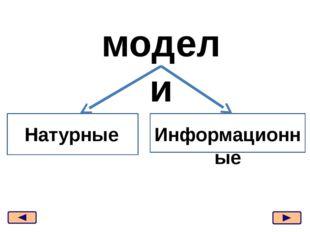 модели Натурные Информационные