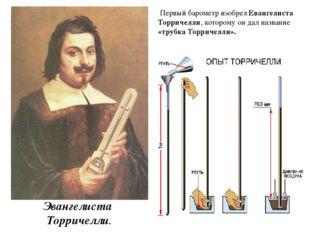 Эвангелиста Торричелли. Первый барометр изобрел Евангелиста Торричелли, кот