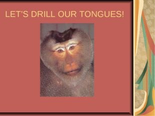 LET'S DRILL OUR TONGUES!