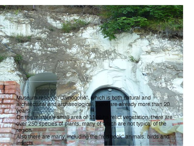 """Museum-reserve """"Divnogorie"""", which is both natural and architectural and arch..."""