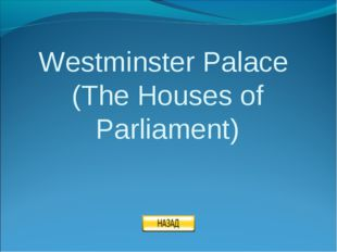 Westminster Palace (The Houses of Parliament)