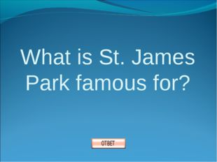 What is St. James Park famous for?