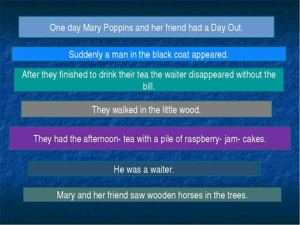 One day Mary Poppins and her friend had a Day Out. They walked in the little...