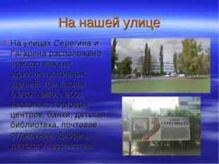 На нашей улице На улицах Серегина и Гагарина расположено немало важных админи