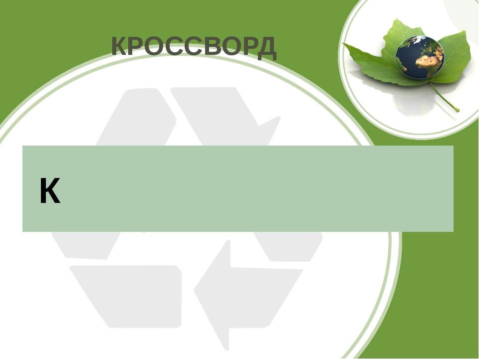 КРОССВОРД К