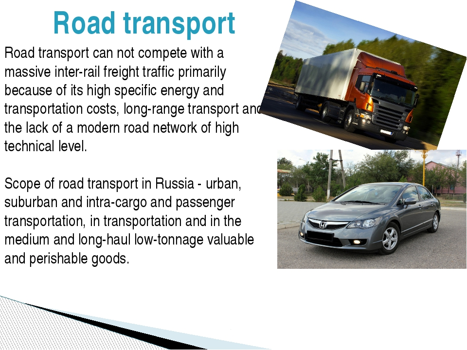 Road transport can not compete with a massive inter-rail freight traffic prim...