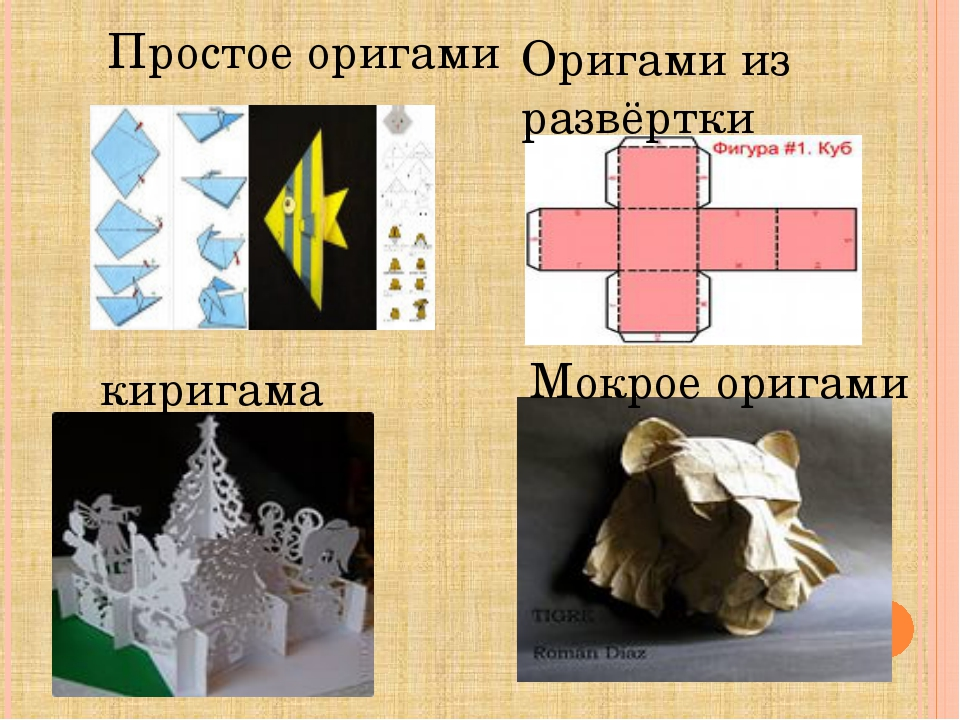 Оригами из развёртки киригама Мокрое оригами Простое оригами
