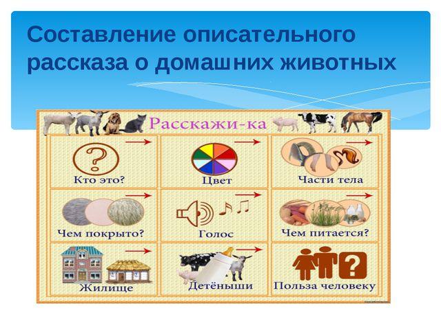 Составление описательного рассказа о домашних животных