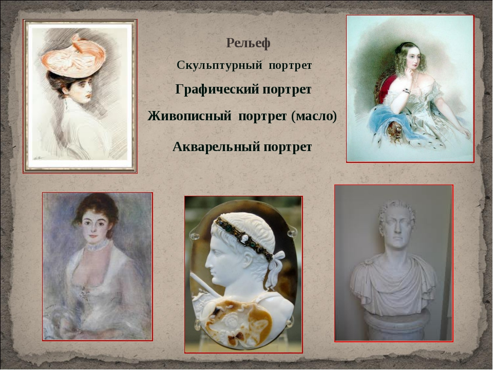 Графический портрет Акварельный портрет Живописный портрет (масло) Рельеф Ску...