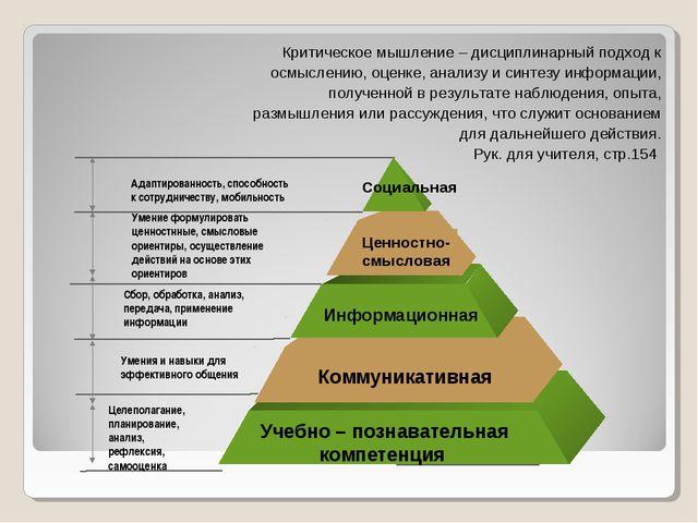 Aдаптированность, способность к сотрудничеству, мобильность Умение формулиров...