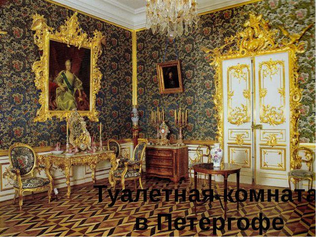 Туалетная комната в Петергофе
