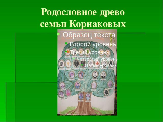 Родословное древо семьи Корнаковых