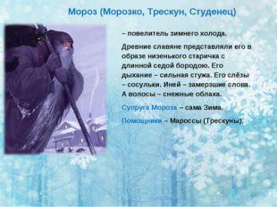 – повелитель зимнего холода. Древние славяне представляли его в образе низень
