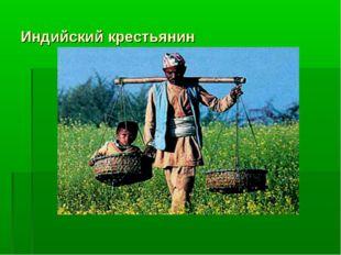 Индийский крестьянин